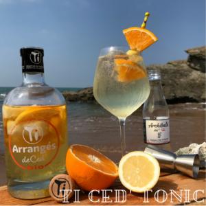 Découvrez le BIONIC un cocktail Ti Ced' tonic à réaliser avec notre Ti Arrangé de Ced' Orange Citron BIO