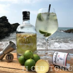 Découvrez le GwaMaRé un cocktail Ti Ced' Tonic à réaliser avec notre Ti Arrangés de Ced' Citron Gingembre